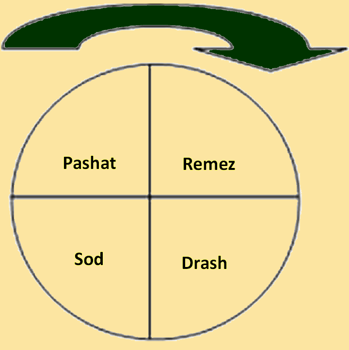 Circular chart showing pardes